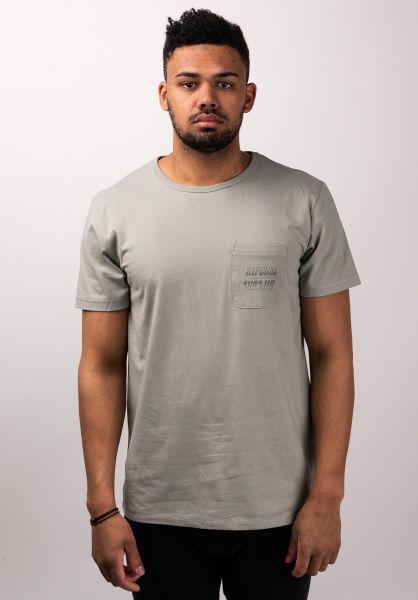 Rip Curl T-Shirts Organic Plain Pocket lightgreen vorderansicht 0399971