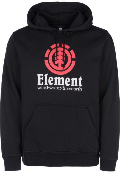 Element Hoodies Vertical flintblack-red Vorderansicht