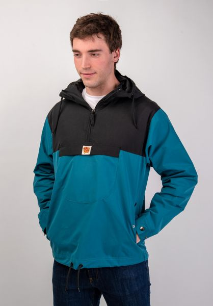 Turbokolor Windbreaker Freitag black-mint vorderansicht 0122475