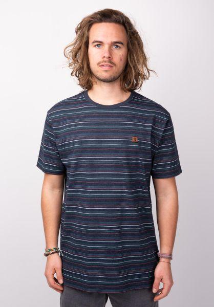 TITUS T-Shirts Finbar deepnavymottled vorderansicht 0398346