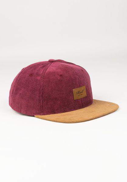Reell Caps Suede 6-Panel burgundy vorderansicht 0564484