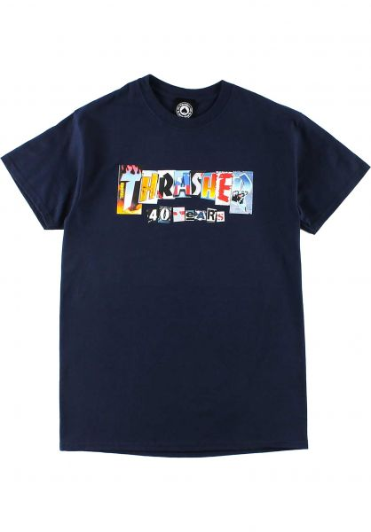 Thrasher T-Shirts 40 Years navy vorderansicht 0324065
