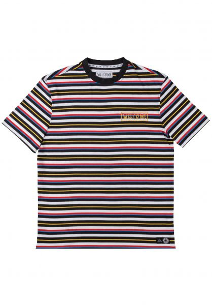 Welcome T-Shirts Surf Stripe black-white-primary vorderansicht 0398808