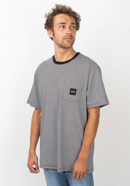 HUF T-Shirts Carson Knit black vorderansicht 0320512