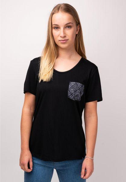 Rip Curl T-Shirts Beauty Pocket black vorderansicht 0399411