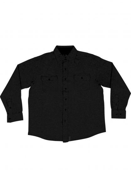 Creature Hemden langarm Angler Shirt black Vorderansicht