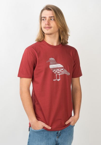 Cleptomanicx T-Shirts Daily Routine rosewood vorderansicht 0321340