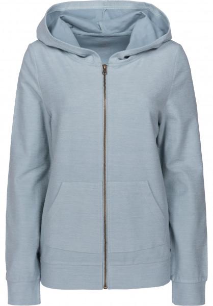 TITUS Zip-Hoodies Abby greyish-blue Vorderansicht