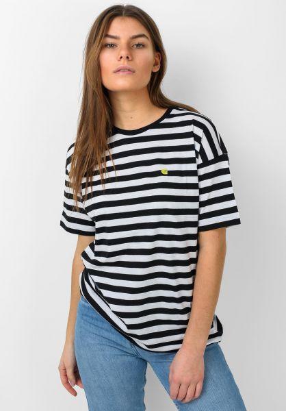 Carhartt WIP T-Shirts W´ Scotty scottystripe black-white vorderansicht 0321032