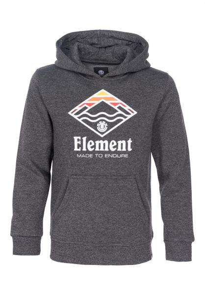 Element Hoodies Layer Kids charcoalheather Vorderansicht