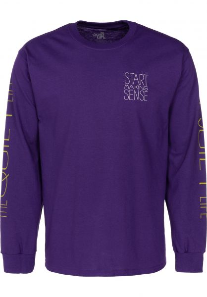The Quiet Life Longsleeves Start Making Sense purple vorderansicht 0383116