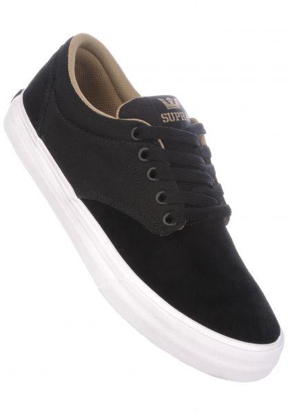 Supra Alle Schuhe Chino black-khaki-white Vorderansicht