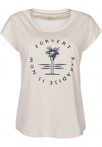 Forvert T-Shirts Clarkia beige Vorderansicht