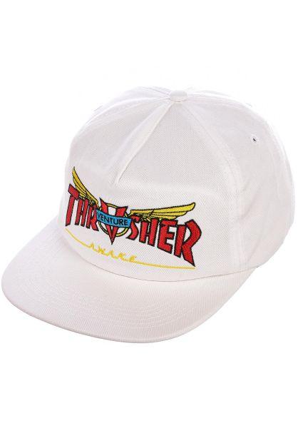 Thrasher Caps Venture Collab white vorderansicht 0566615