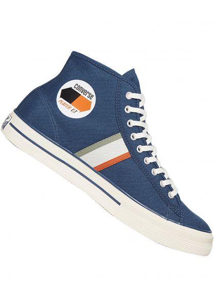 Converse CONS Alle Schuhe Player LT Hi Case Study navy vorderansicht 0604796