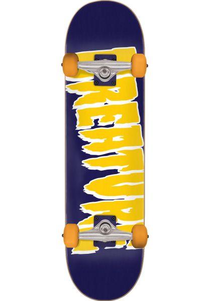 Creature Skateboard komplett Logo Mid purple-yellow vorderansicht 0162415