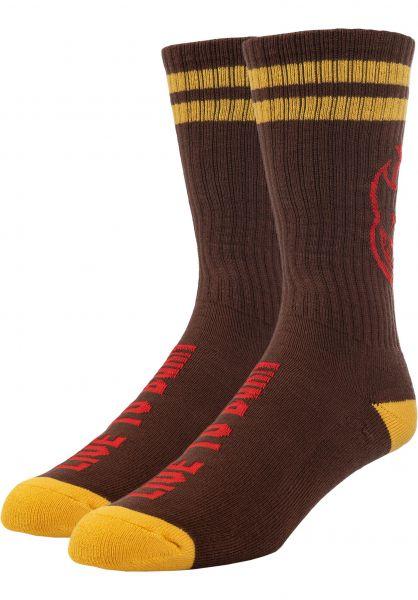 Spitfire Socken Heads up darkred-yellow-red vorderansicht 0631105