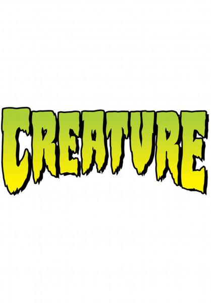 """Creature Verschiedenes Logo Decal 12"""" clear-green Vorderansicht"""
