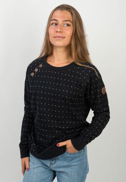 Ragwear Sweatshirts und Pullover Daria Dots navy vorderansicht 0422741