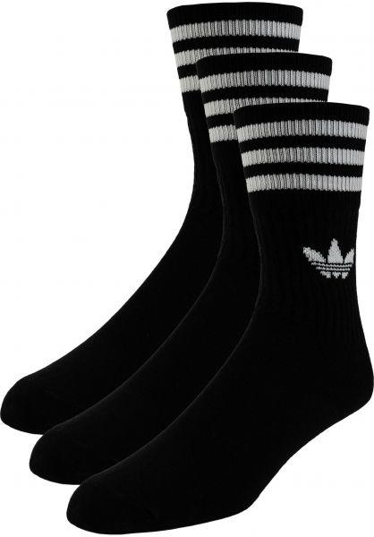 adidas Socken Solid Crew 3Pack black vorderansicht 0632057