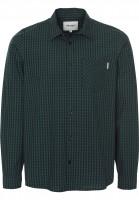 Carhartt WIP Hemden langarm Preston preston-check-navy-fir Vorderansicht