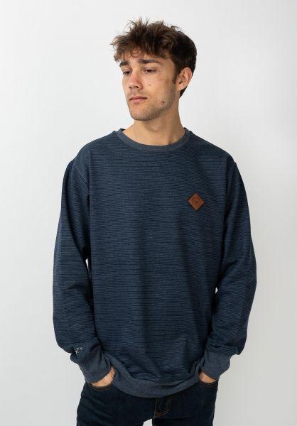 Mazine Sweatshirts und Pullover Seaton Striped navymelange vorderansicht 0422984