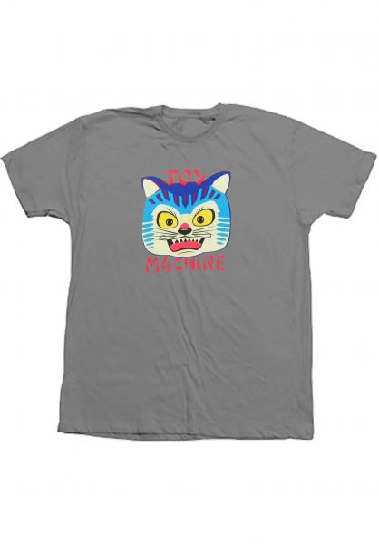Toy-Machine T-Shirts Angry Cat silver Vorderansicht