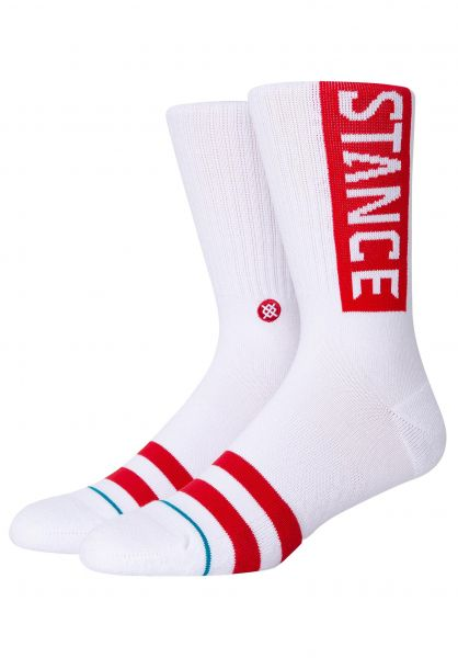 Stance Socken OG white-red vorderansicht 0631580