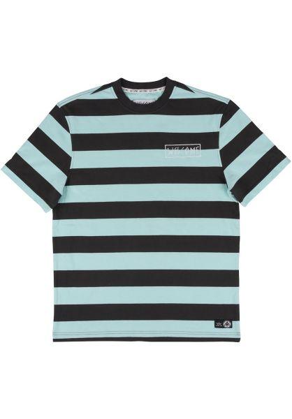Welcome T-Shirts Big Beautiful Stripe black-teal vorderansicht 0398809