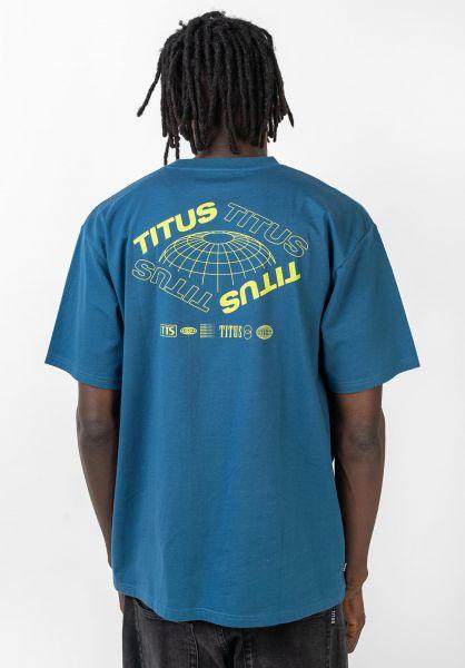 TITUS T-Shirts Future-Backprint stellar vorderansicht 0320161