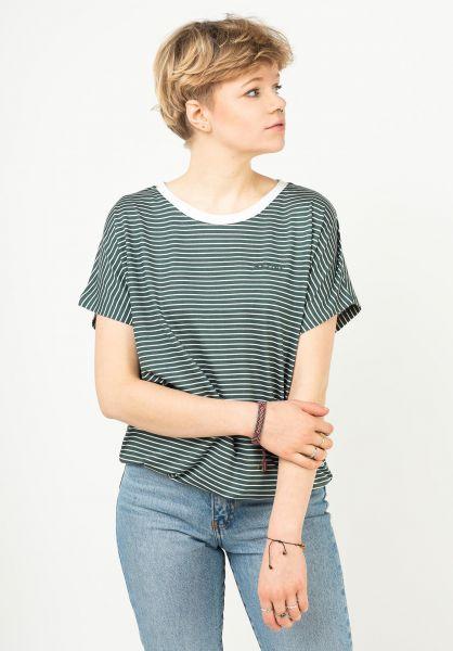 Mazine T-Shirts Wylie forest-whitestriped vorderansicht 0324030