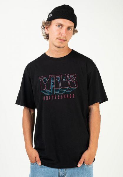 TITUS T-Shirts Future black vorderansicht 0320912