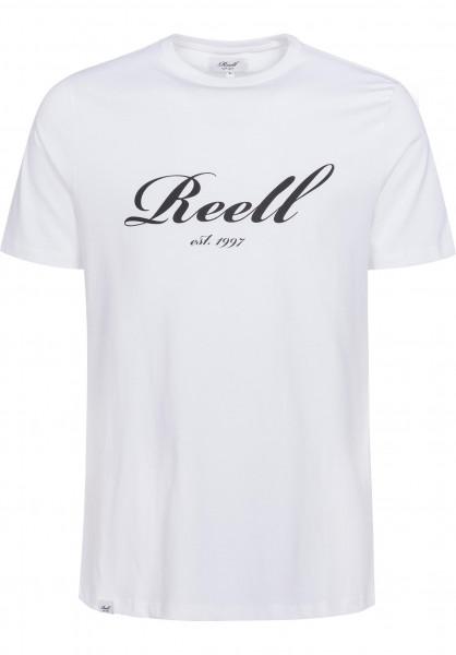 Reell T-Shirts Big Script white Vorderansicht