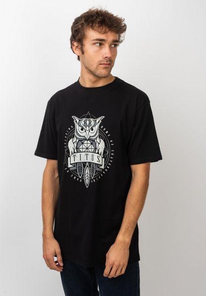 TITUS T-Shirts Deon black vorderansicht 0399249