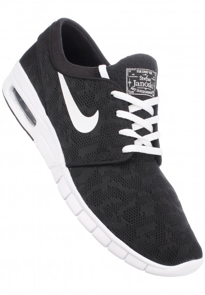 3c68ab41a003 Stefan Janoski Max Nike SB All Shoes in black-white for Men   Titus