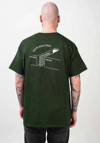 Sour Solution T-Shirts Succees Failure bottlegreen vorderansicht 0321990