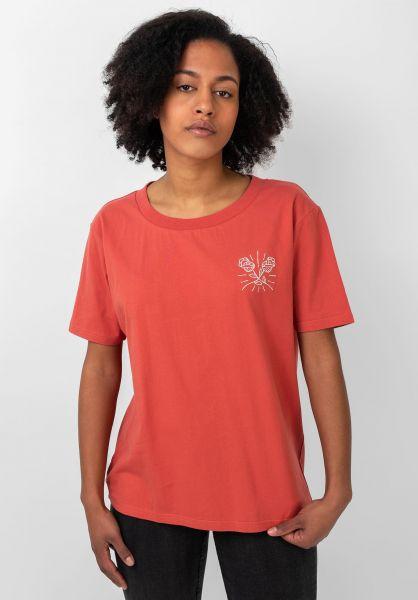 TITUS T-Shirts Roses orange-washed vorderansicht 0383196