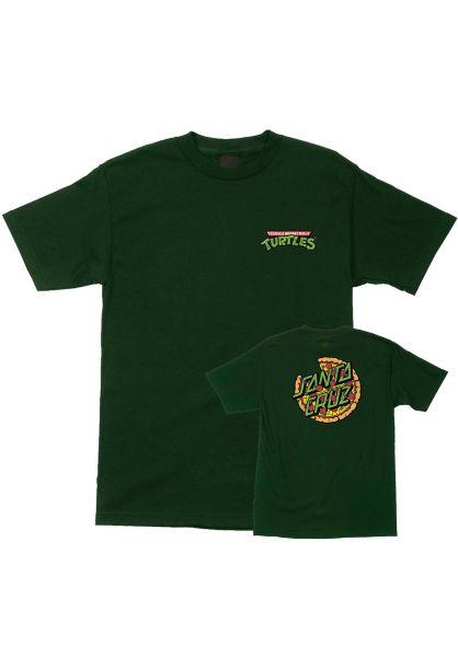 Santa-Cruz T-Shirts TMNT Pizza Dot forestgreen vorderansicht 0399648