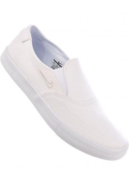 timeless design e4875 73029 Nike SB Alle Schuhe Solarsoft Portmore II Slip On white-white Vorderansicht