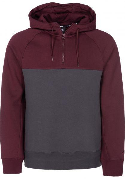 Nike SB Hoodies Icon Blocked burgundycrush-anthracite vorderansicht 0445094