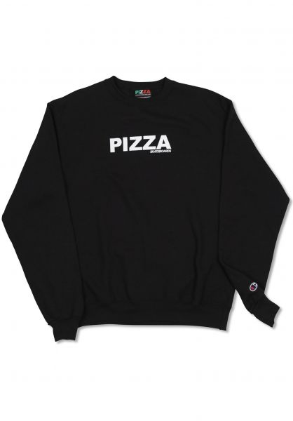Pizza Skateboards Sweatshirts und Pullover Pizza Logo Champion Crewneck black Vorderansicht