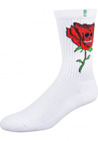 Psockadelic Socken Ellington white vorderansicht 0631725