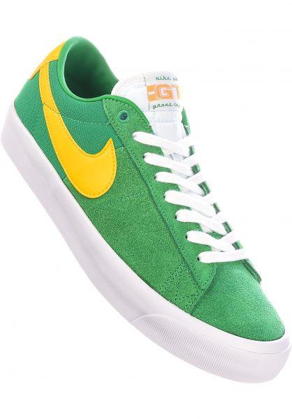Nike SB Alle Schuhe Blazer Low Pro GT luckygreen-universitygold vorderansicht 0604956