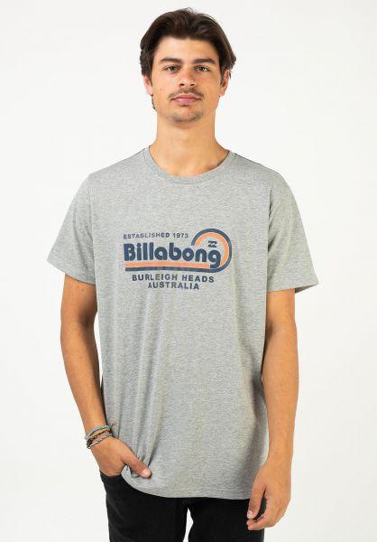 Billabong T-Shirts Repair greyheather vorderansicht 0322647