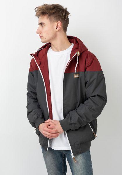 iriedaily Winterjacken Insulaner Jacket anthra-red vorderansicht 0503441