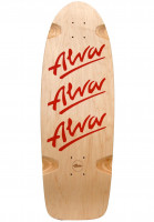 Alva Skateboard Decks Tri-Logo-1979-Re-Issue red Vorderansicht