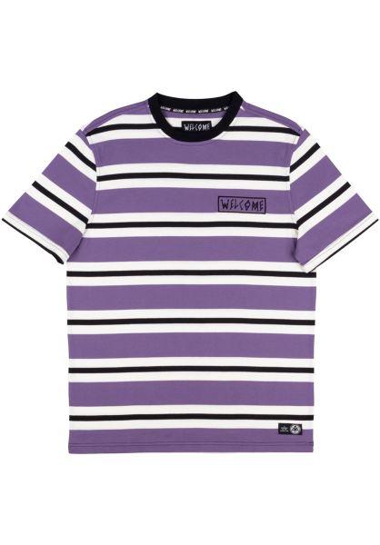 Welcome T-Shirts Medius Stripe purple vorderansicht 0321774