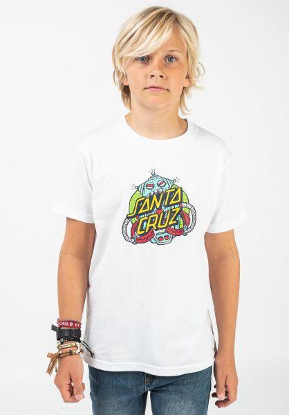 Santa-Cruz T-Shirts Youth Robo Dot white vorderansicht 0322549