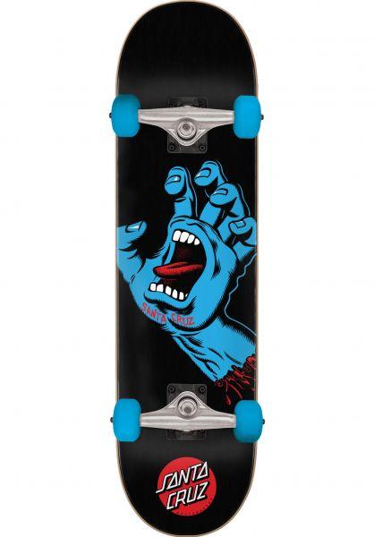 Santa-Cruz Skateboard komplett Screaming Hand Full black vorderansicht 0162519