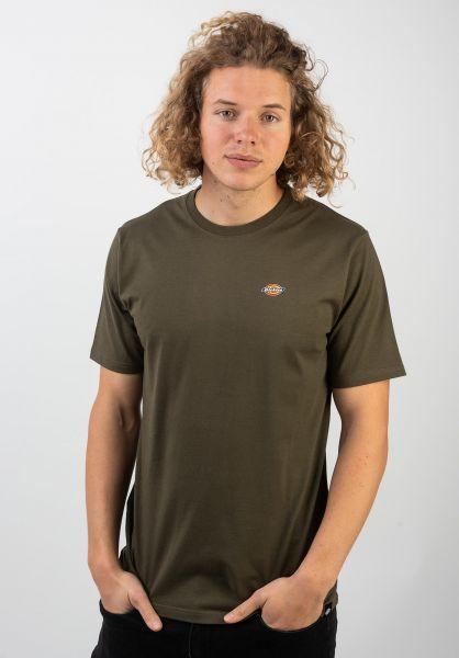 Dickies T-Shirts Stockdale darkolive vorderansicht 0397354